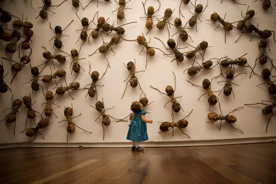 Rafael Gómezbarros' Giant Ant Installations Shed Light on the Plight Of Migrant Workers