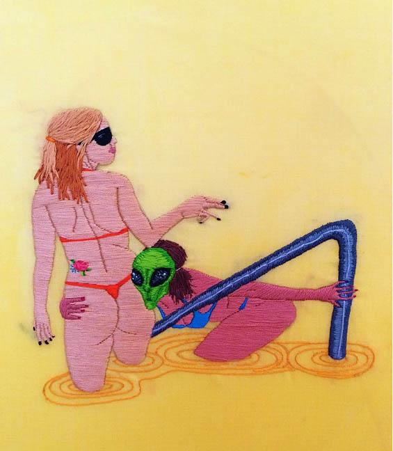 Alaina Varrone's Erotic Embroideries