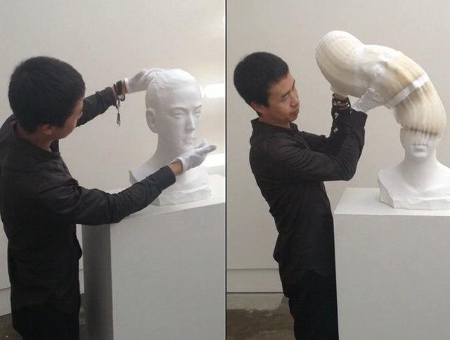 Fluid sculpture made on paper