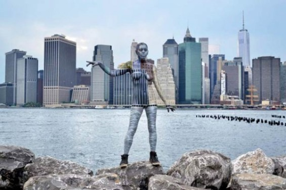 Nude Bodies Painted To Blend In With New York City Landscapes And Landmarks