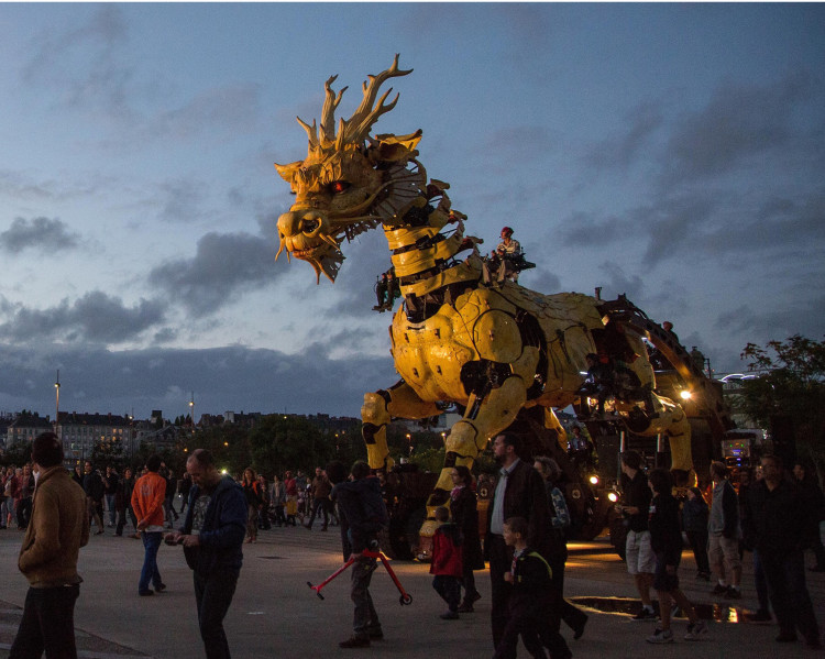 'Long Ma,' A Massive Fire-Breathing Kinetic Sculpture of a Horse-Dragon