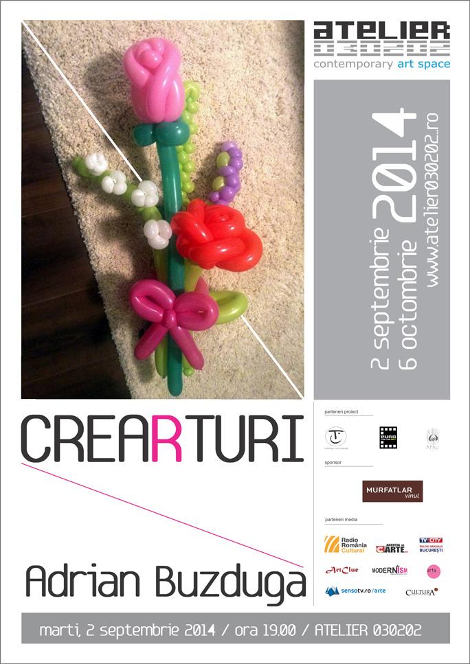 """Adrian Buzduga """"Crearturi"""" @ Atelier 030202, București"""