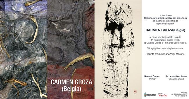 Carmen Groza, expoziție la Galeria Dialog a Sectorului 2, București