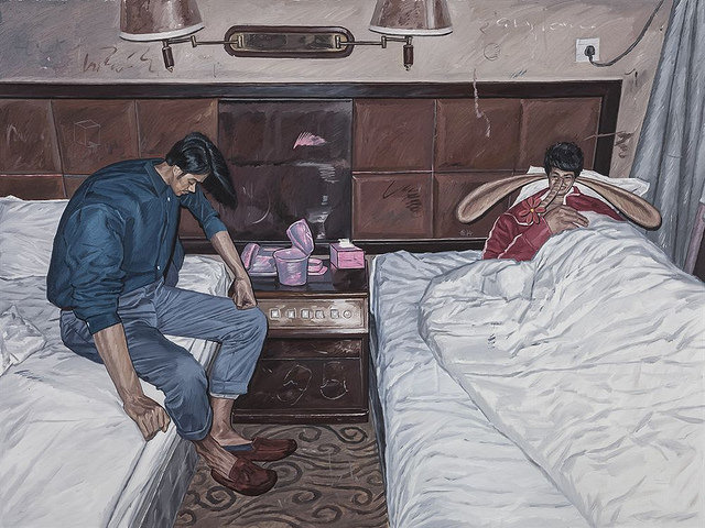 Liu Guanguang Makes Daily Life Bizarre in Distorted Paintings
