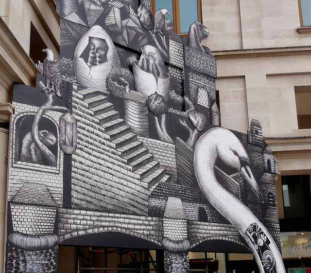 Phlegm Creates Installation at London's Royal Opera House