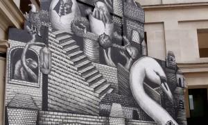 Phlegm Creates Installation at London's Royal Opera House