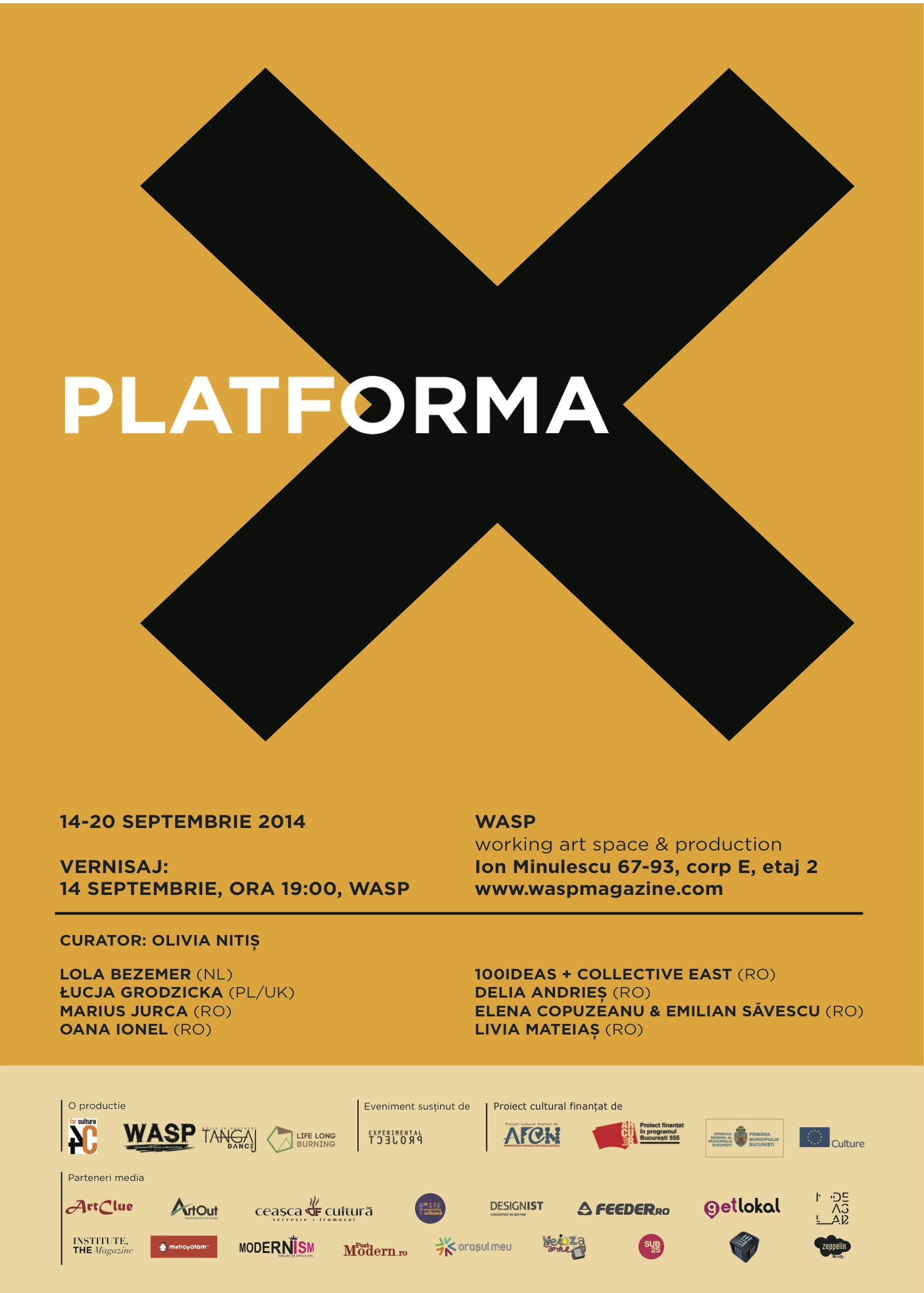 Platforma X @ WASP — Working Art Space And Production, București