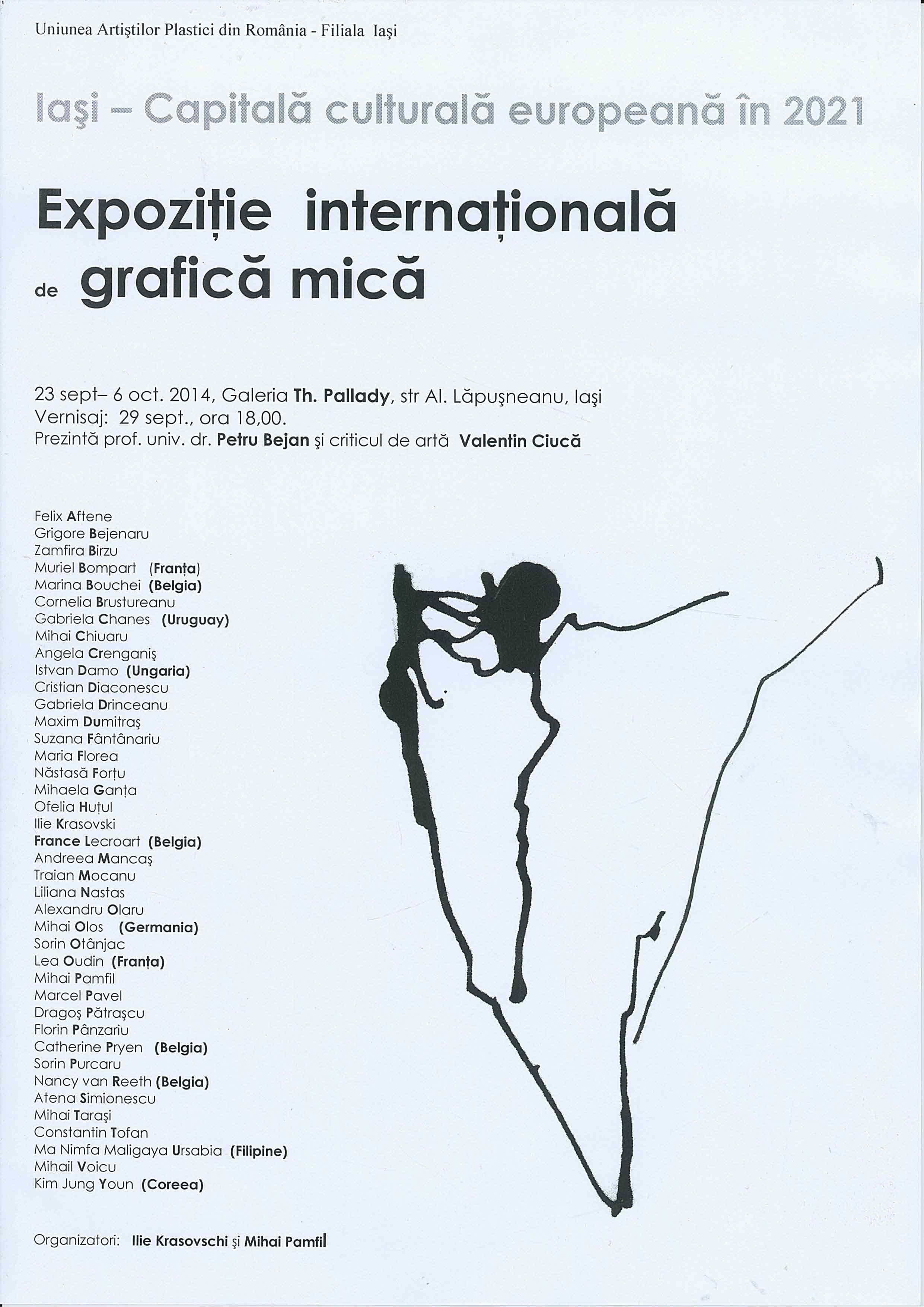 """""""Expoziție internațională de grafică mică"""" @ Galeria """"Theodor Pallady"""", Iași"""