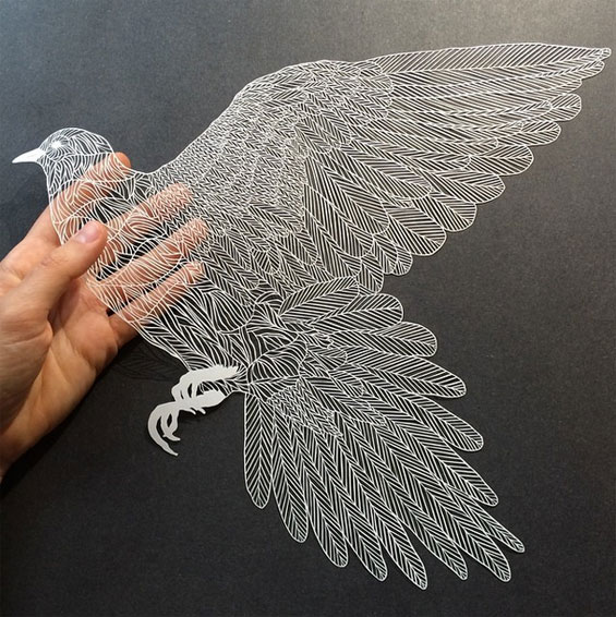 Amazing Hand Cut Paper Pairs Illustration With Incredible Technique