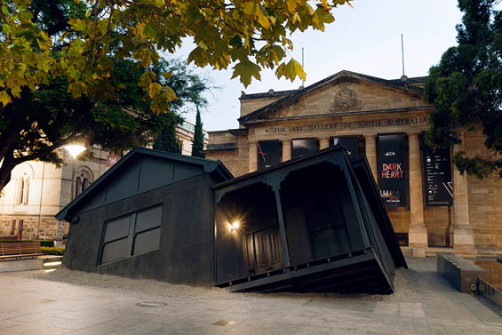 Ian Strange Crash Lands A Suburban Home In A Museum Courtyard