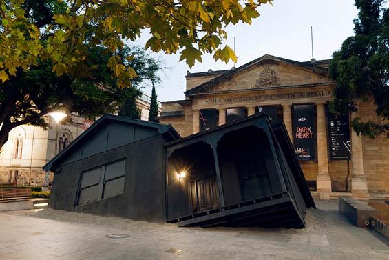 Ian Strange Crash Lands A Suburban Home In A Museum Courtyard