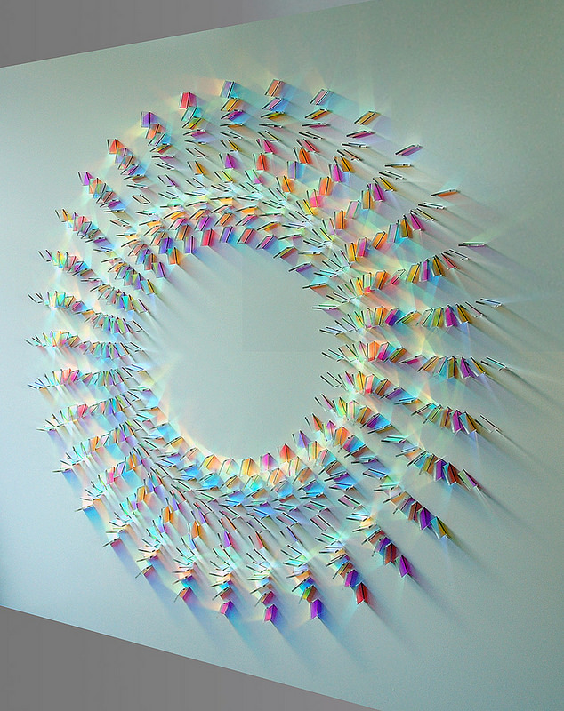Gorgeous Glass and Light Sculptures Created With Iridescent Dichroic Glass