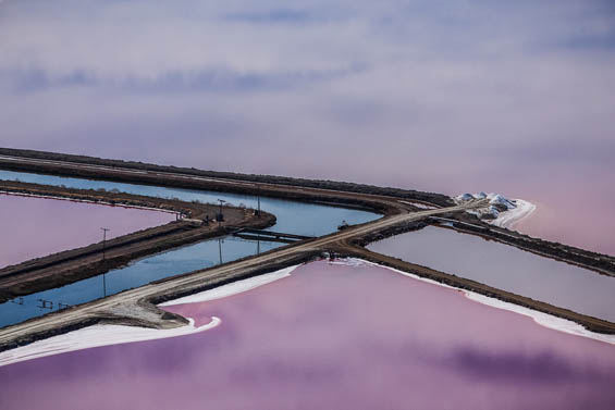 Julieanne Kost's Hyper Color Aerial Photography Of Salt Lakes Looks Unreal
