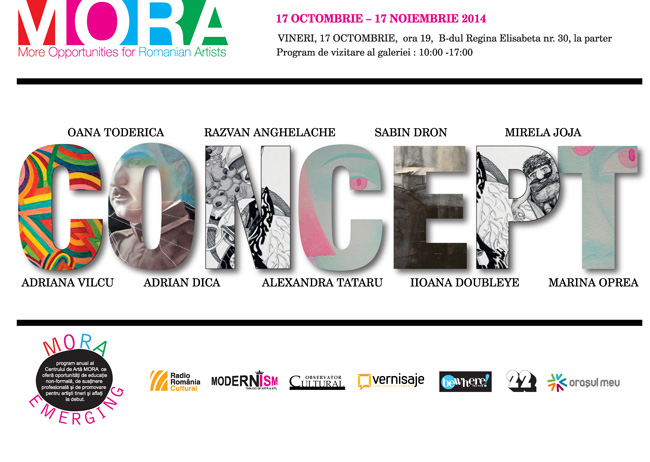 Expozitia CONCEPT – program MORA Emerging