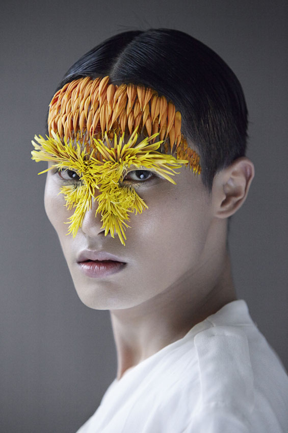 Breathtakingly Ephemeral Portraits Created With Flowers And Seeds