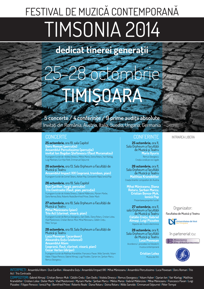 Festivalul Internaţional de Muzică Contemporană Timsonia, prima ediţie