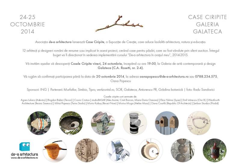 """""""Case Ciripite"""" @ Galeria Galateca, București"""