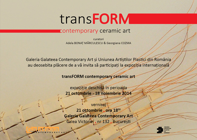 transFORM – Contemporary Ceramic Art @ Galeria Galateea, București