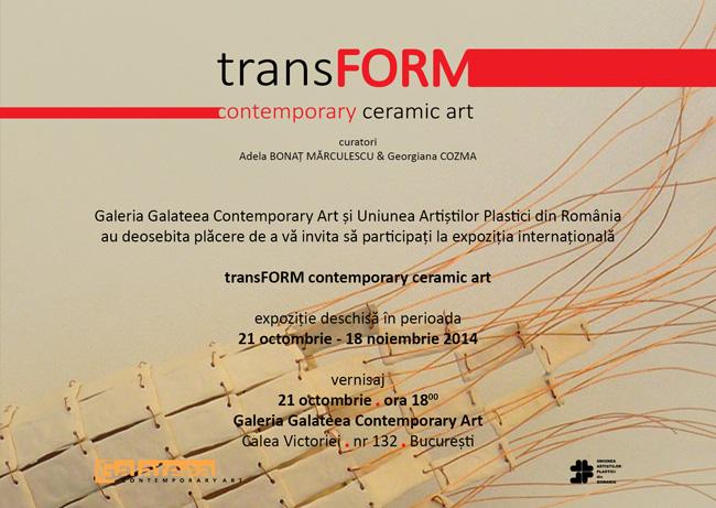 transFORM – Contemporary Ceramic Art @ Galeria Galateea, București