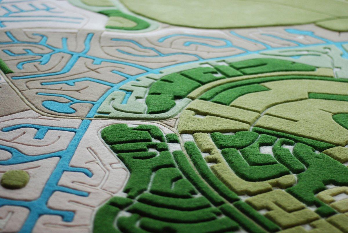 Landcarpet, Handmade Wool Rugs Based on Satellite Imagery of Earth