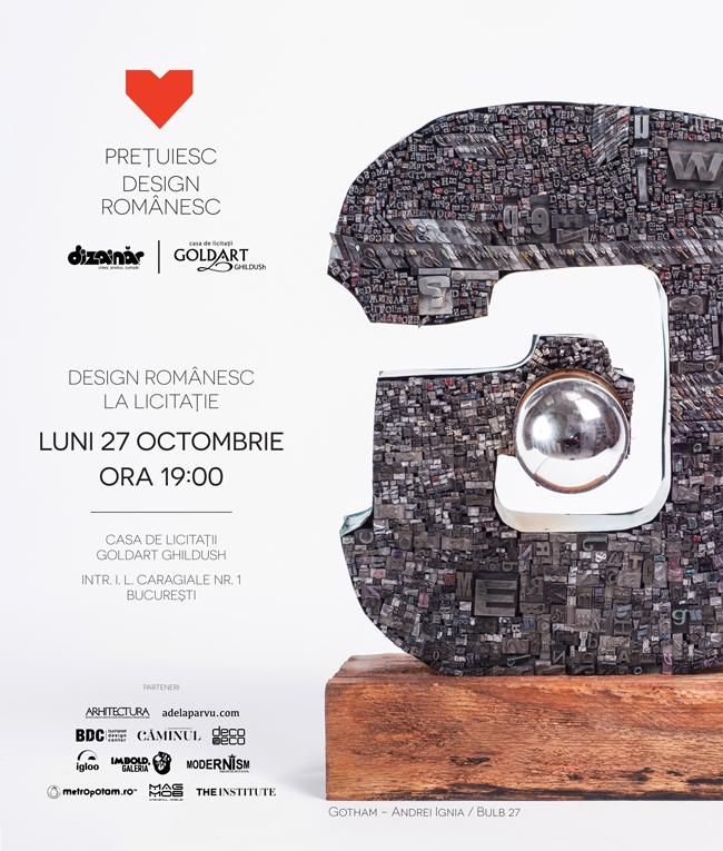 Licitație de design românesc aflată la a 3-a ediție