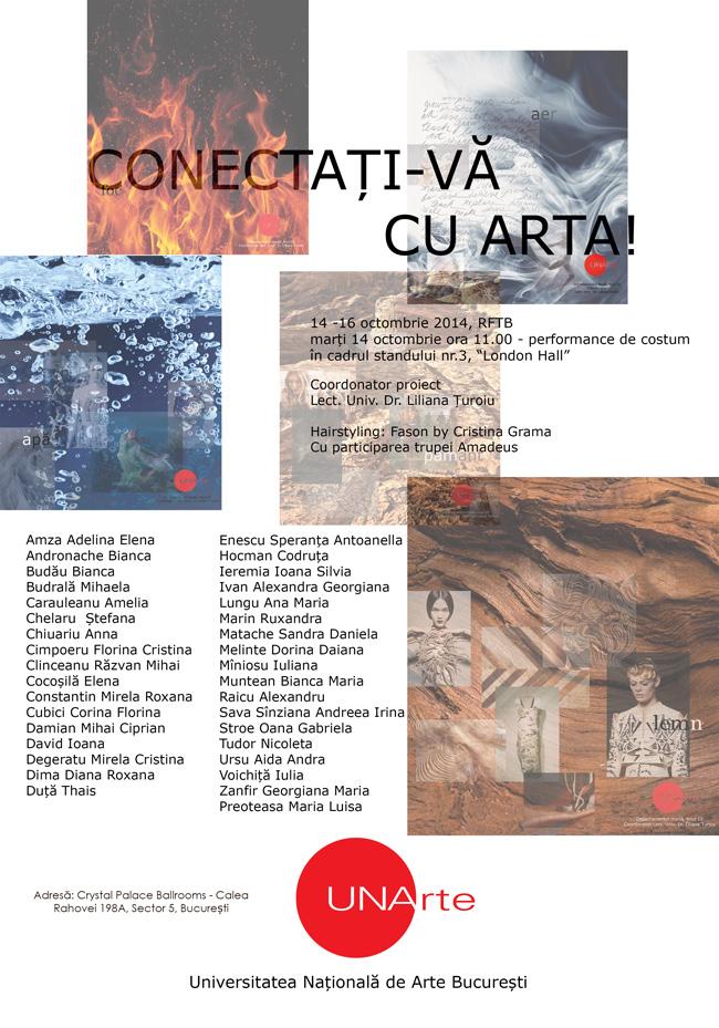"""""""CONECTAȚI-VĂ CU ARTA!"""" – Salonul RFTB, 2014"""