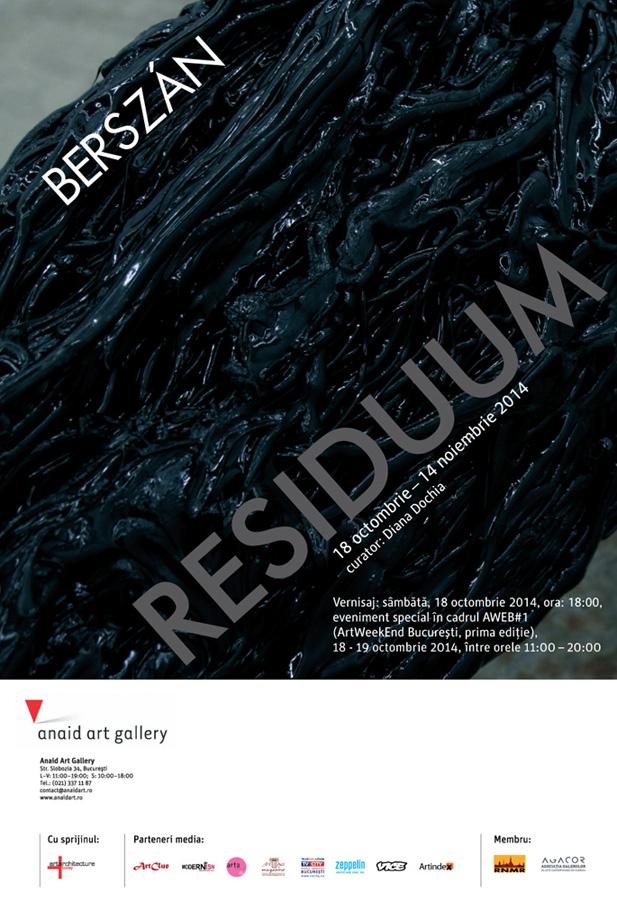 "Zsolt Berszán ""Residuum"" @ Anaid Art Gallery, București"