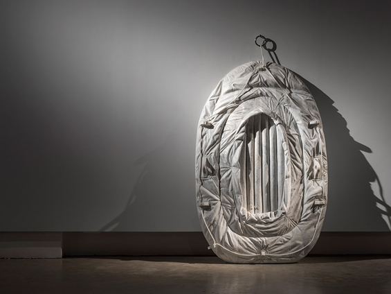 Sink Or Swim- Alex Seton's Life-Like Inflatable Rafts Made Out Of Marble