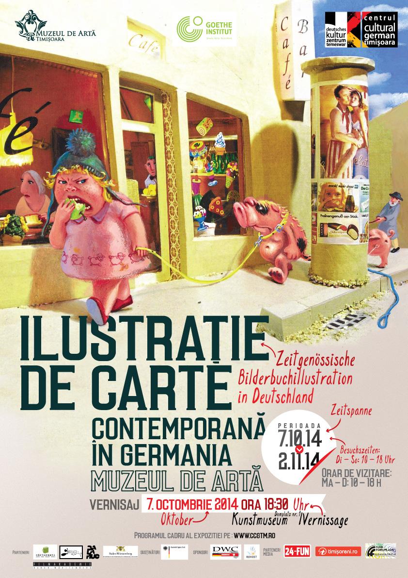 """Expoziție """"Ilustrație de carte contemporană în Germania"""" @ Muzeul de Artă Timișoara"""