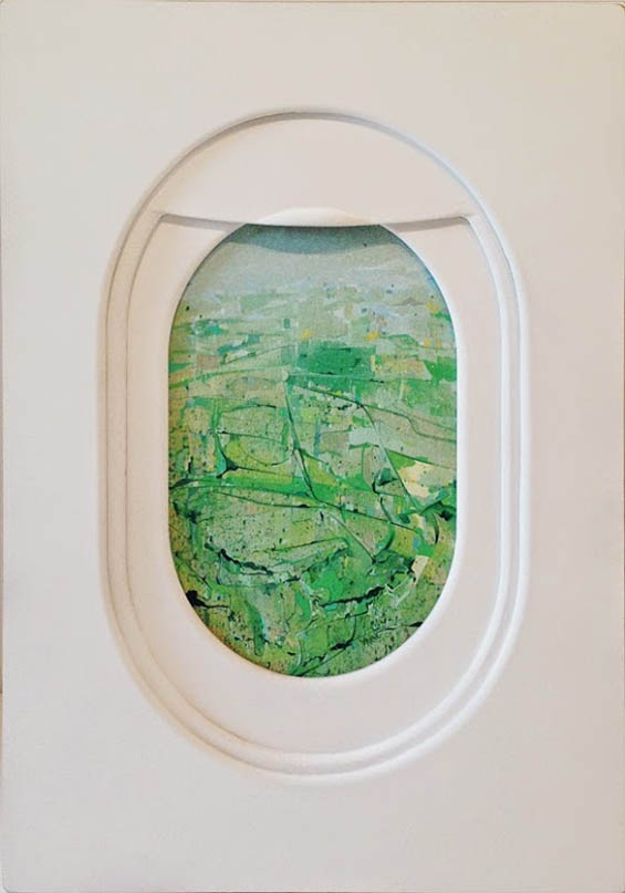 Jim Darling Paints The Abstracted Landscapes Seen Through Airplane Windows