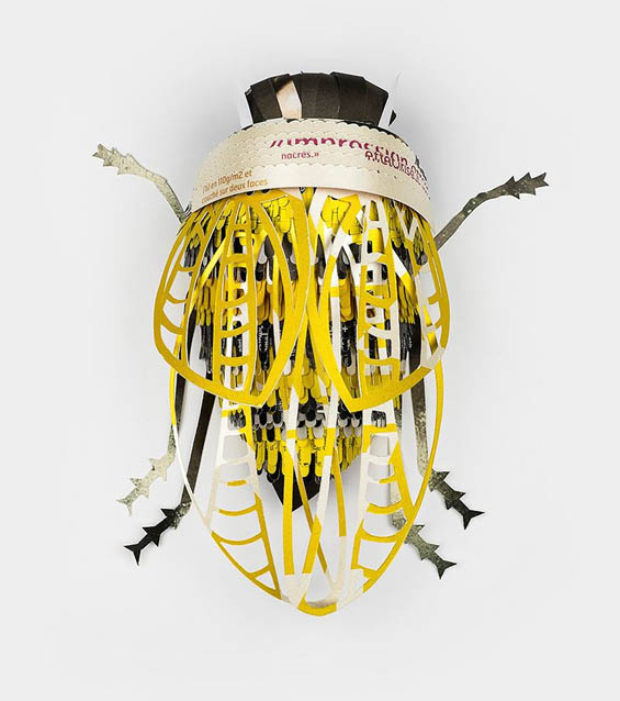 Soon Agency Creates Creepy Crawly Bugs From Recycled Magazines
