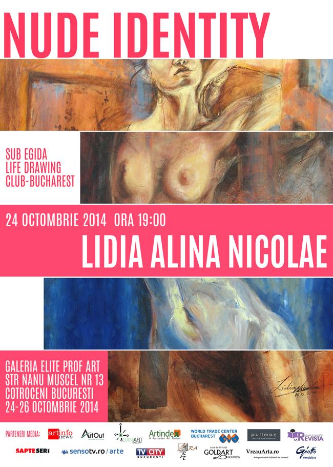 """Lidia Alina Nicolae """"NUDE IDENTITY"""" – expoziție de grafică și pictură @ Galeria Elite Prof Art, București"""