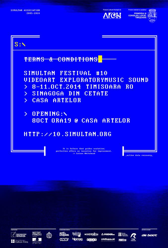 SIMULTAN FESTIVAL 2014 / 'Termeni și condiții'