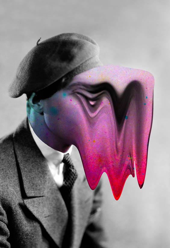 Tyler Spangler's Spooky Neon Portrait Remixes