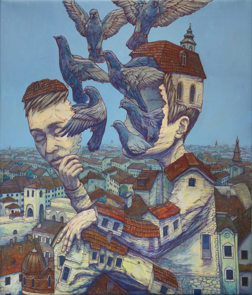 New Surreal Paintings and Murals by Rustam Qbic