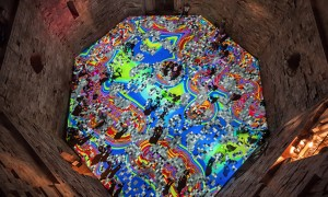 Miguel Chevalier morphs Italian castle with kaleidoscopic patterns