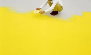 Wolfgang Laib Makes Art With Yellow Pollen Fields