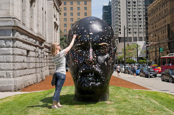 Douglas Coupland Invites Public To Cover His Head In Chewing Gum