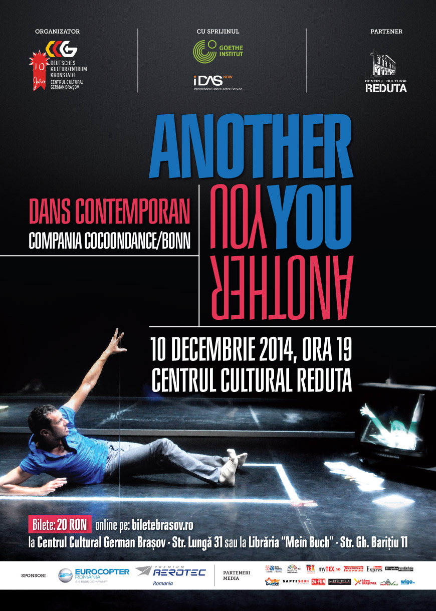 "Spectacol de dans contemporan ""Another You"" // COCOONDANCE @ Centrul Cultural Reduta Brașov"