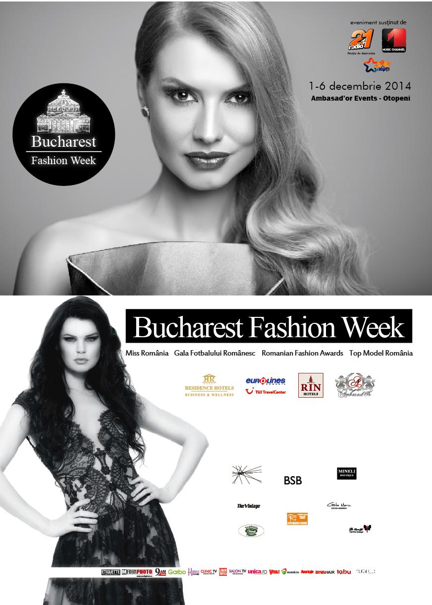 Peste 30 de designeri români și străini la Bucharest Fashion Week