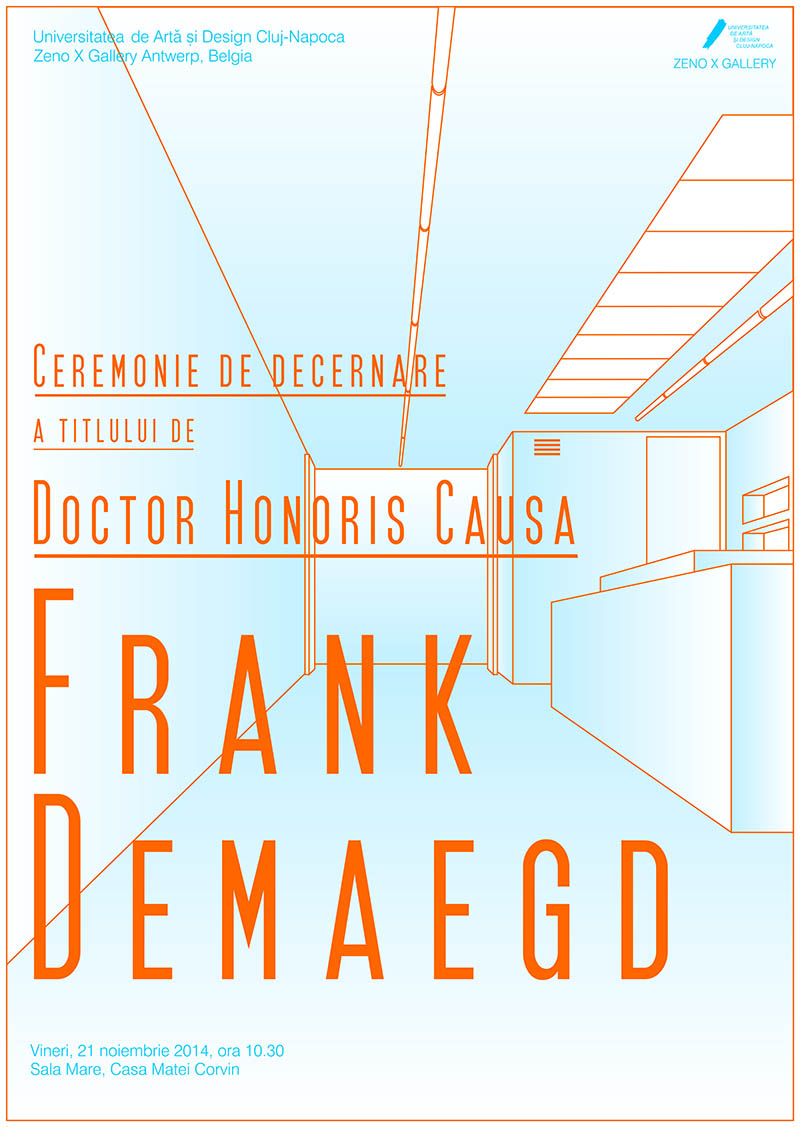 UAD Cluj-Napoca, ceremonie DHC – Frank Demaegd, fondatorul Galeriei Zeno X