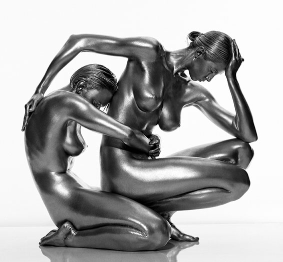 Photographer Guido Argentini Honors The Feminine With His Silver Nudes