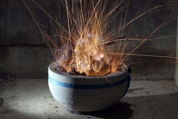 Artist Makes Ceramic Vessels By Detonating Explosives