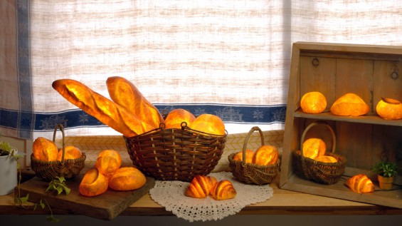 Burning Buns: A Lampshade, Made Entirely Out Of Bread