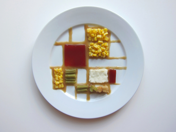Artist Arranges Thanksgiving Meals Into Iconic Works Of Art