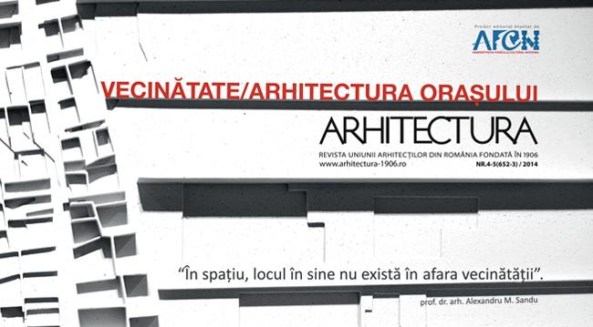 Lansarea proiectului editorial ARHITECTURA ORAȘULUI – VECINATATE