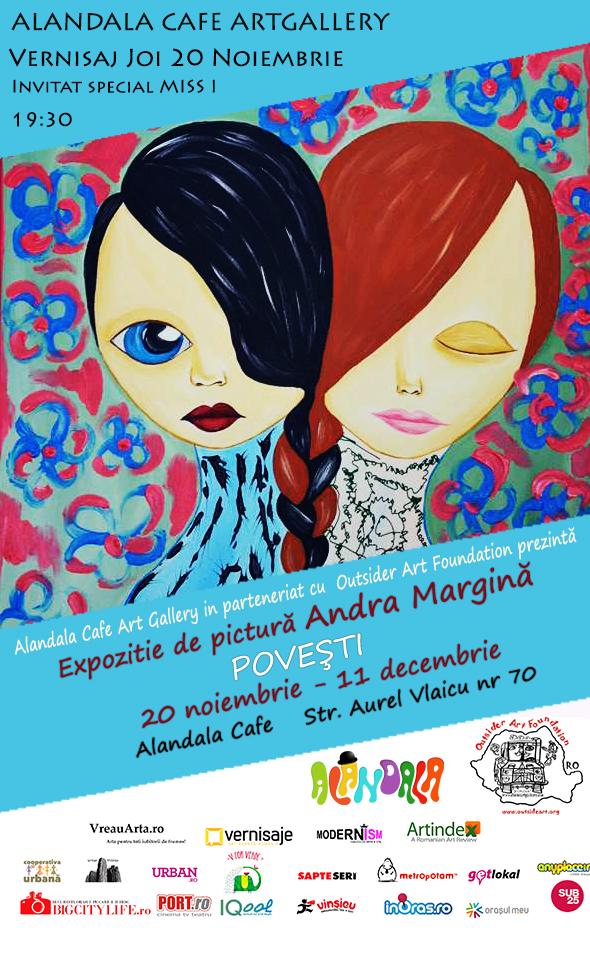 """Andra Margină """"Poveşti"""" @ Alandala Cafe ArtGallery, București"""