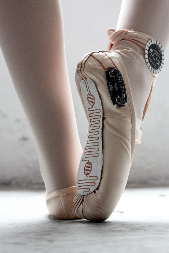 Electronic Ballet Shoes That Trace The Beauty And Movement Of Dance