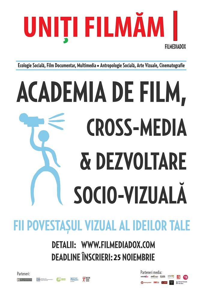 Uniți Filmăm! – cursurile Academiei de Film, Cross-Media și Dezvoltare Socio-Vizuală FILMEDIADOX