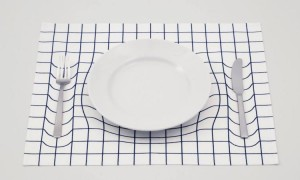 Tableware Appears To Sink Into the Table in Clever 3D Illusion Placemats